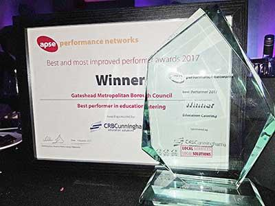 An image relating to Gateshead School Catering is the Best UK Performer - Again!